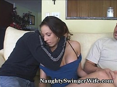 Brunette, Cuckold Wife, Cum on Face, Hot Wife, Real, real, Woman Swap, Cheating Wife Sharing, Real Cheating Amateur Wife, Mature Perfect Body, Amateur Sperm in Mouth