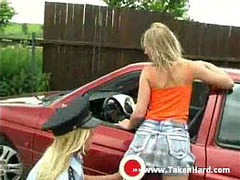 Blonde, lesbians, at Work, outdoors, cops, uni Form, Amateur Milf Perfect Body, Police Woman