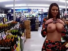 Massive Natural Boobs, Public Porn, Exhibitionists Fucking, Store, Natural Boobs, Big Ass Titties