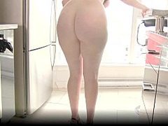 Sexy Maid Porn, red Head, toying, Extreme Dildo, High Heels Fuck