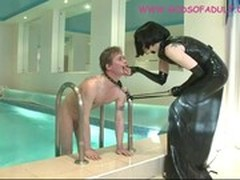 Round Ass, Asshole Lick, Dressed Woman, worship, Latex, Pussy Eat, Perfect Ass, Perfect Body Masturbation, Pool