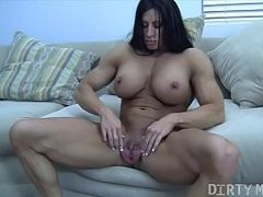 Massive Clit, Clit Erection, Extreme Dildo, Big Toy, Long Dildo, Large Labia, huge Toys, Perfect Body Masturbation