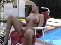 Bikini, dark Hair, Female Orgasm Compilation, Masturbation Squirt, Masturbation Solo Dildo, Orgasm, outdoors, Pool, Real, Fucking Orgasm, real, softcore, vibrator, Vibrator on Clit Orgasm, Wet, Amateur Dildo Orgasm, Perfect Body Amateur, Solo Babe